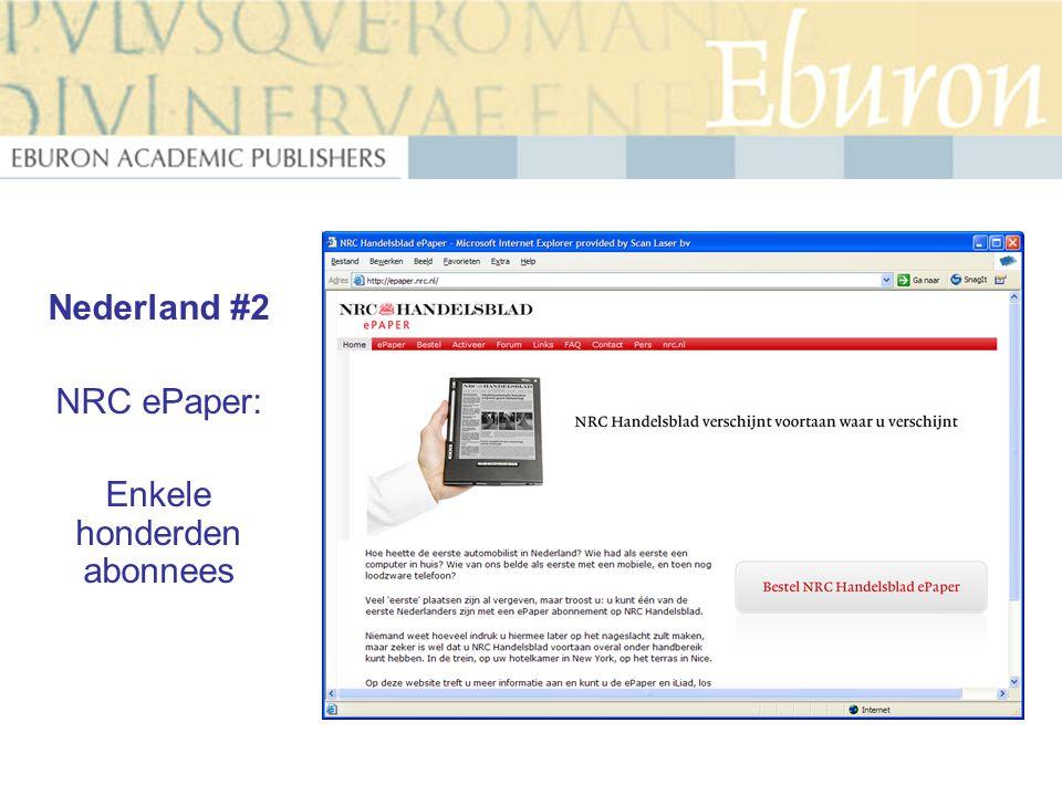 Nederland #2 NRC ePaper: Enkele honderden abonnees