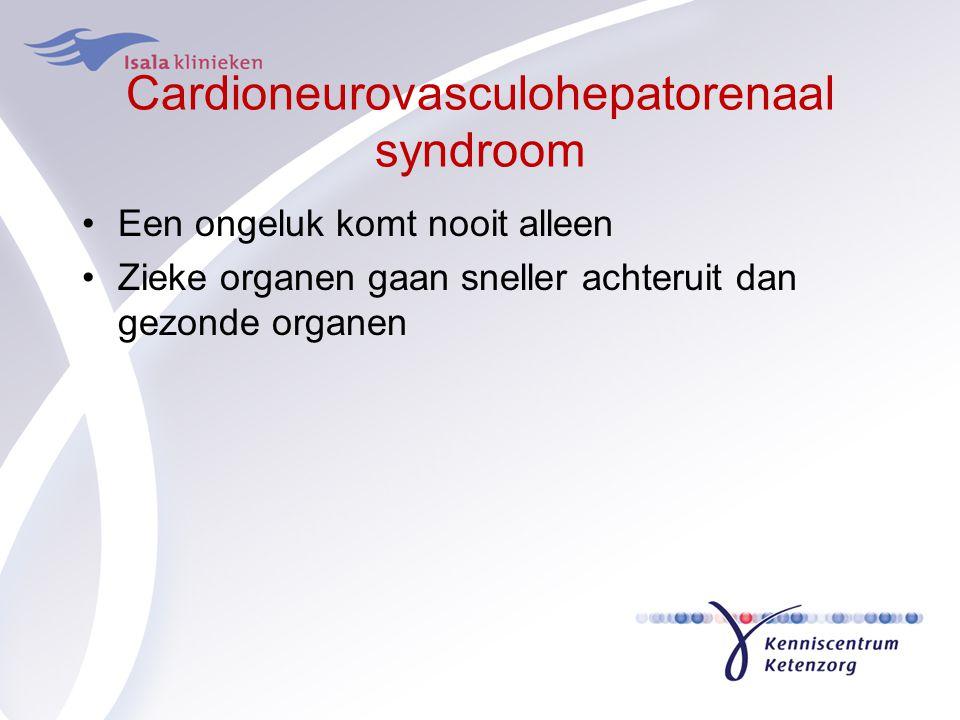 Cardioneurovasculohepatorenaal syndroom Een ongeluk komt nooit alleen Zieke organen gaan sneller achteruit dan gezonde organen