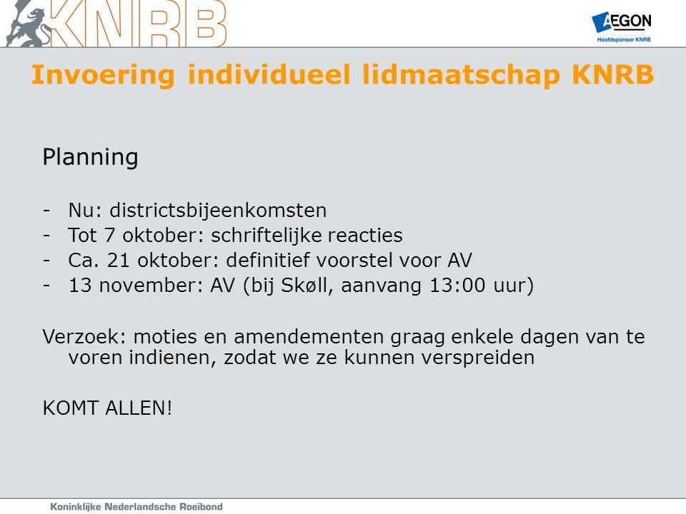 Planning -Nu: districtsbijeenkomsten -Tot 7 oktober: schriftelijke reacties -Ca.