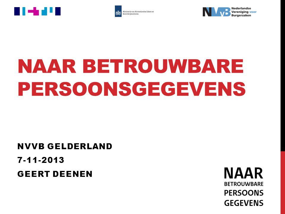 NAAR BETROUWBARE PERSOONSGEGEVENS NVVB GELDERLAND 7-11-2013 GEERT DEENEN