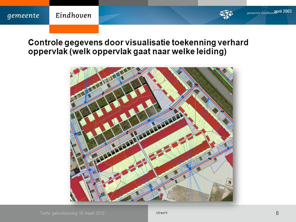 Utrecht april 2003 Turtle gebruikersdag 18 maart 2010 9 4.