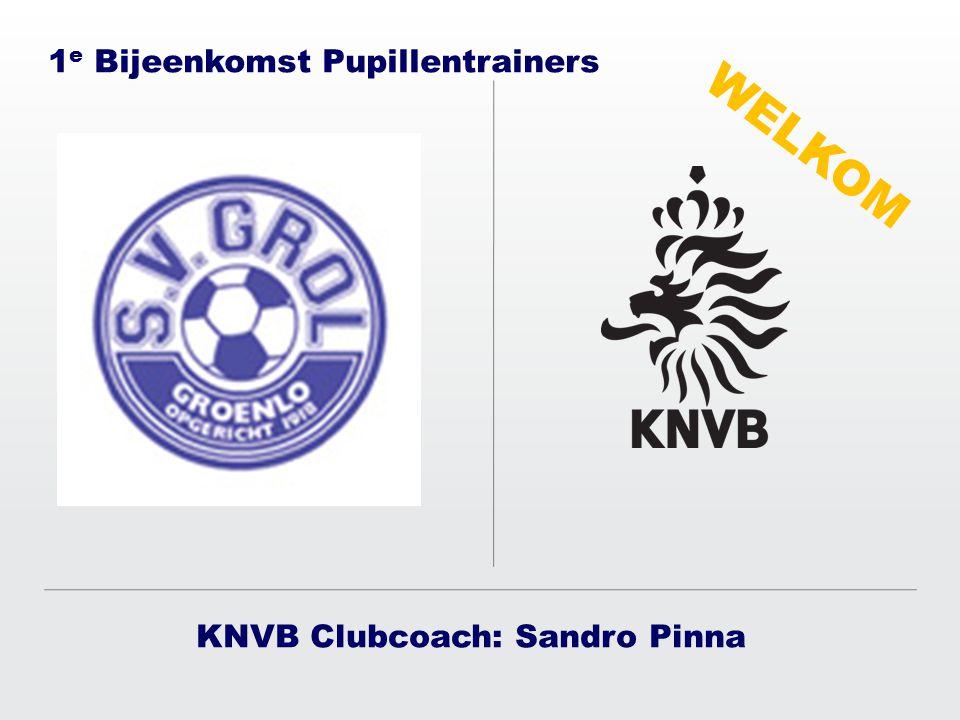 KNVB Clubcoach: Sandro Pinna 1 e Bijeenkomst Pupillentrainers WELKOM