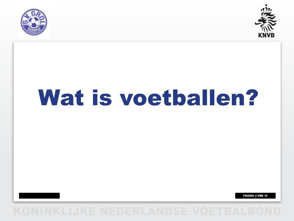 PAGINA 5 VAN 12 Wat is Voetballen.