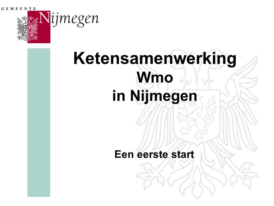 Ketensamenwerking Wmo in Nijmegen Een eerste start