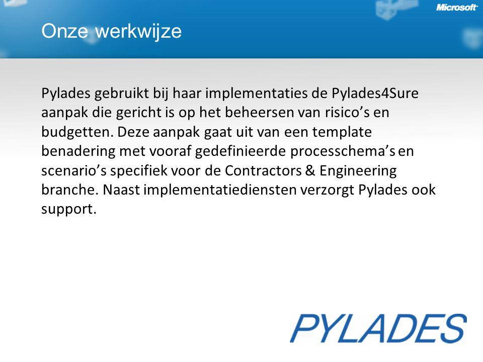 Onze werkwijze Pylades gebruikt bij haar implementaties de Pylades4Sure aanpak die gericht is op het beheersen van risico's en budgetten. Deze aanpak