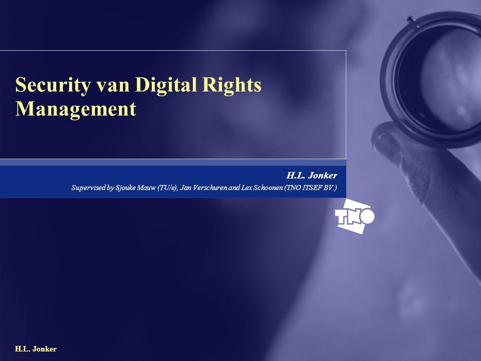 H.L.Jonker2/22 Inhoud Inleiding Opdracht Wat is Digital Rights Management.