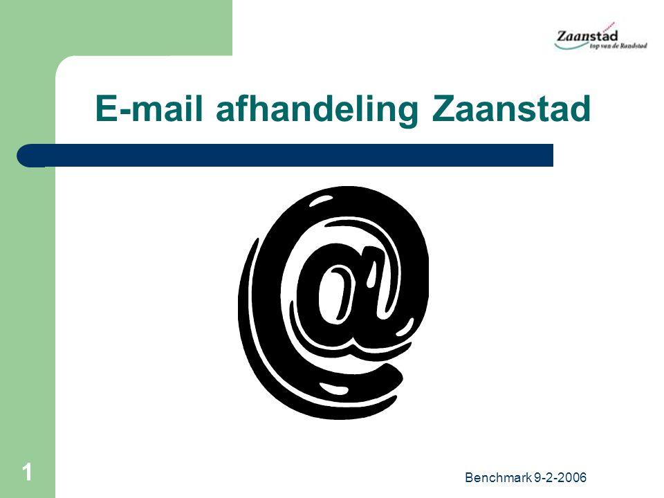 Benchmark 9-2-2006 1 E-mail afhandeling Zaanstad