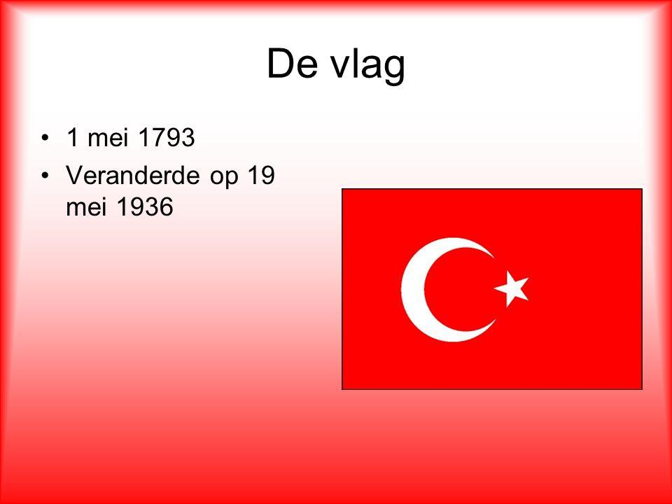De vlag 1 mei 1793 Veranderde op 19 mei 1936