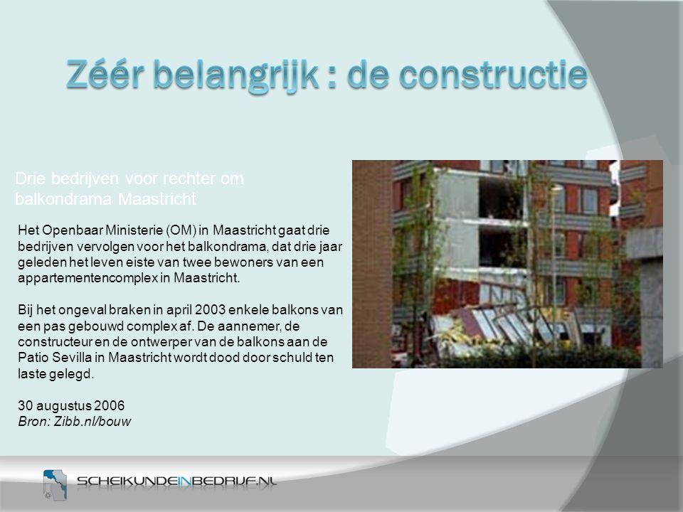 Drie bedrijven voor rechter om balkondrama Maastricht Het Openbaar Ministerie (OM) in Maastricht gaat drie bedrijven vervolgen voor het balkondrama, d