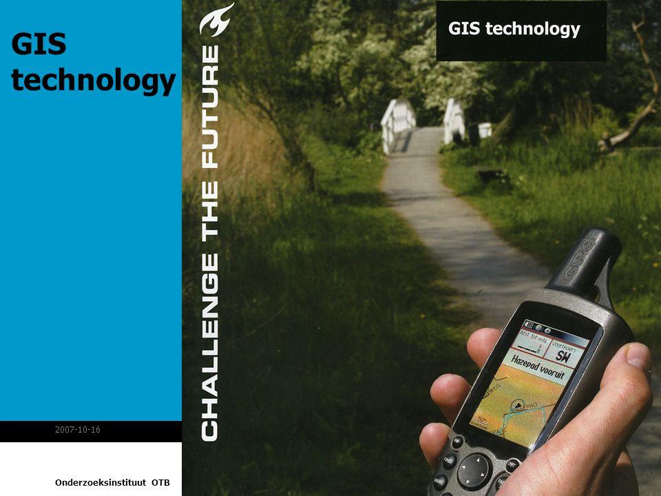 Onderzoeksinstituut OTB 2007-10-163MonetDB spatial GIS technology