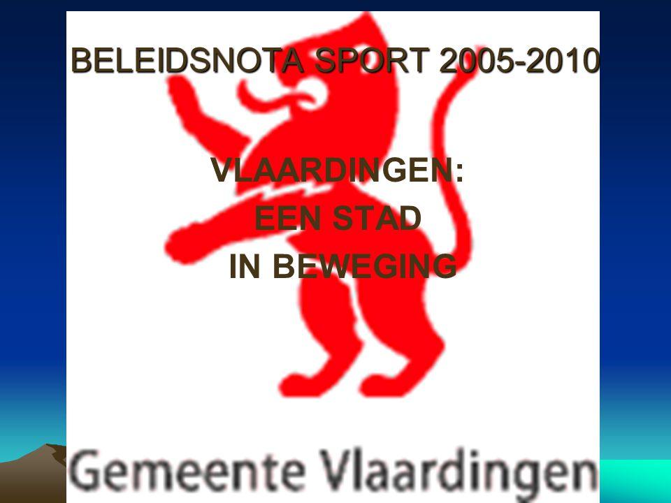 BELEIDSNOTA SPORT 2005-2010 VLAARDINGEN: EEN STAD IN BEWEGING
