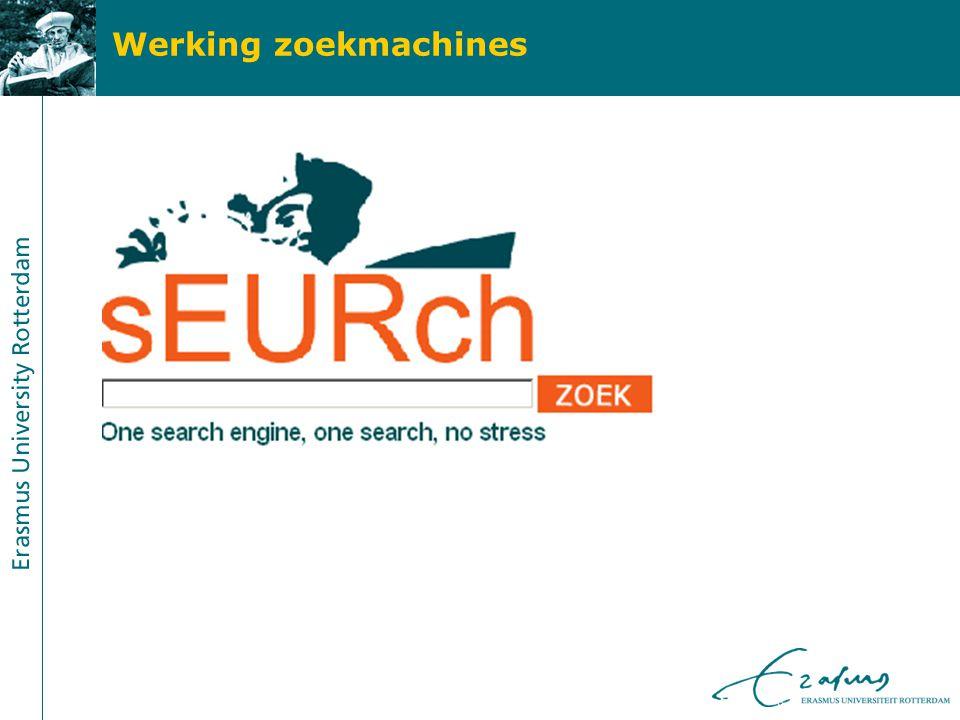 Werking zoekmachines