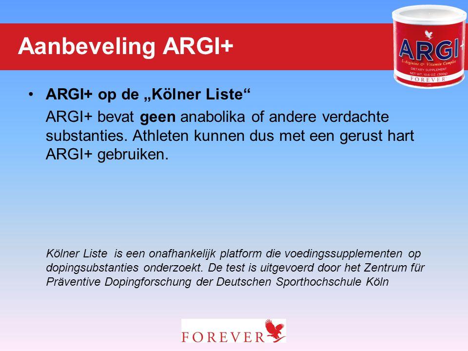 """ARGI+ op de """"Kölner Liste"""" ARGI+ bevat geen anabolika of andere verdachte substanties. Athleten kunnen dus met een gerust hart ARGI+ gebruiken. Kölner"""