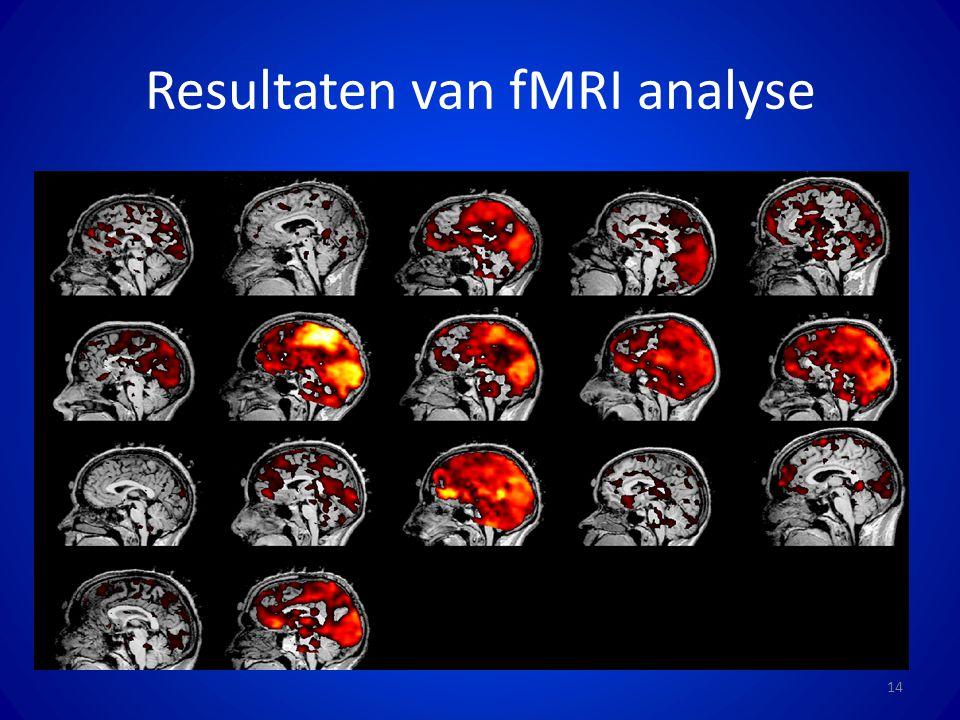 Resultaten van fMRI analyse 14