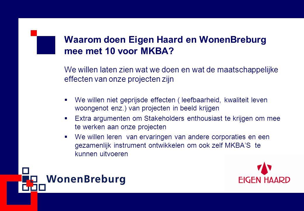 Waarom doen Eigen Haard en WonenBreburg mee met 10 voor MKBA? We willen laten zien wat we doen en wat de maatschappelijke effecten van onze projecten