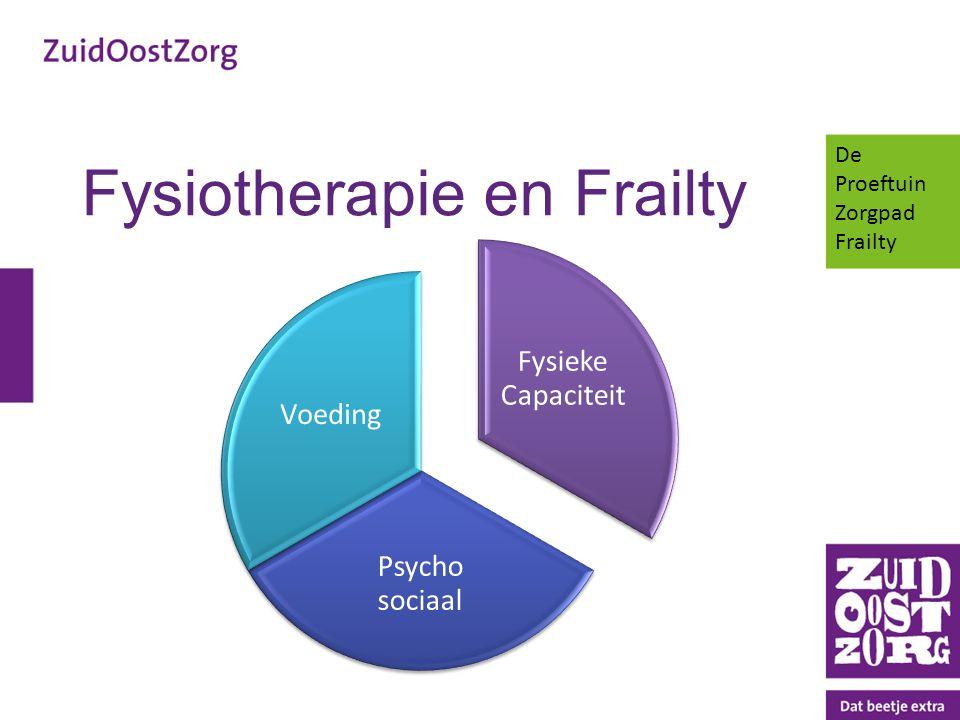 Fysiotherapie en Frailty Fysieke Capaciteit Psycho sociaal Voeding De Proeftuin Zorgpad Frailty