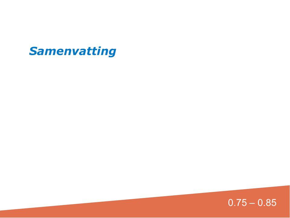 Samenvatting 0.75 – 0.85