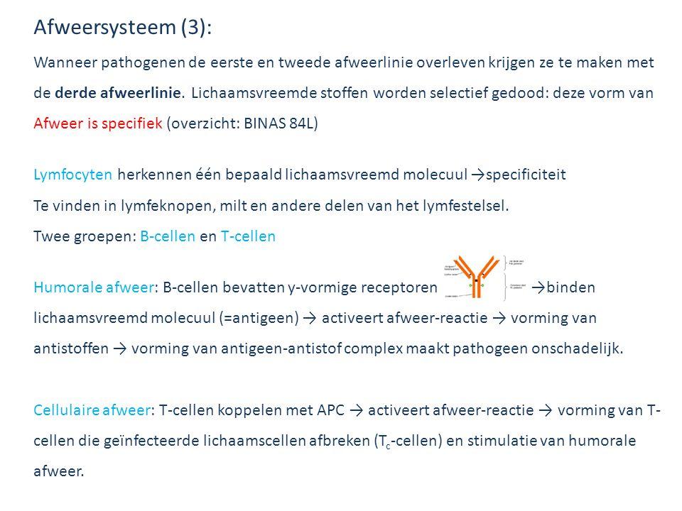 Afweersysteem (3): Wanneer pathogenen de eerste en tweede afweerlinie overleven krijgen ze te maken met de derde afweerlinie. Lichaamsvreemde stoffen