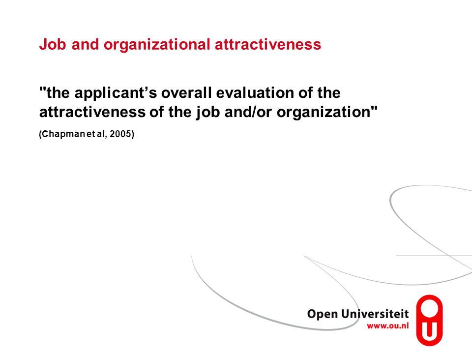 Job and organizational attractiveness