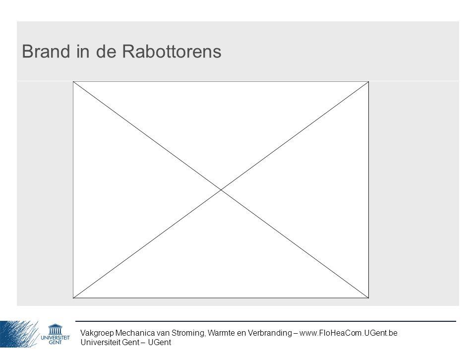 Vakgroep Mechanica van Stroming, Warmte en Verbranding – www.FloHeaCom.UGent.be Universiteit Gent – UGent Brand in de Rabottorens