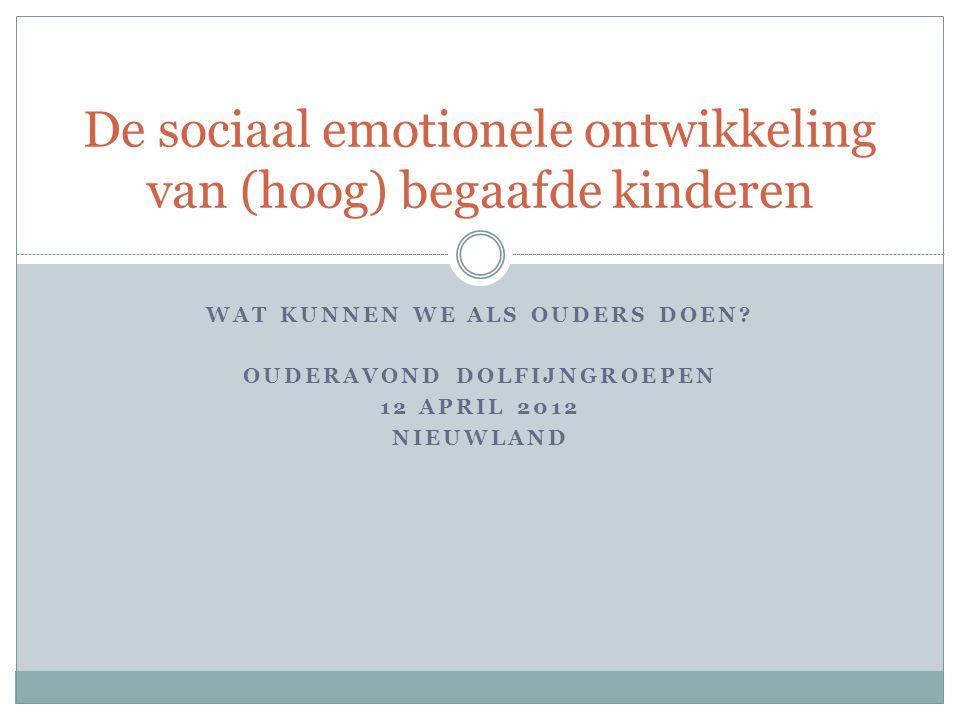 Inhoud Opsteker Wat is sociaal emotionele ontwikkeling.