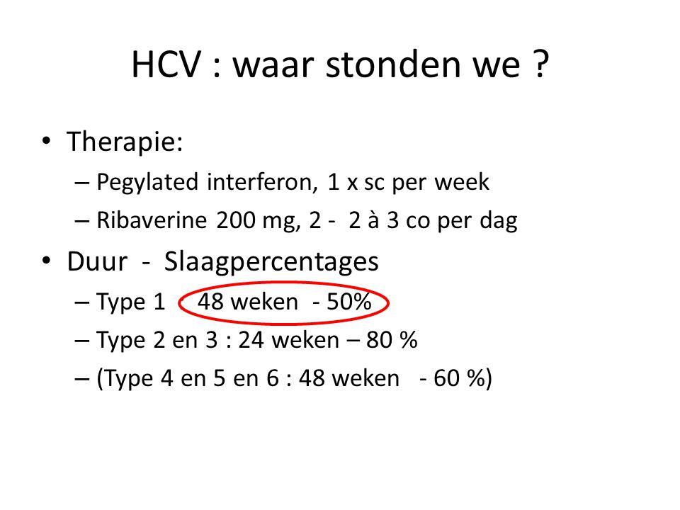 HCV : waar stonden we .