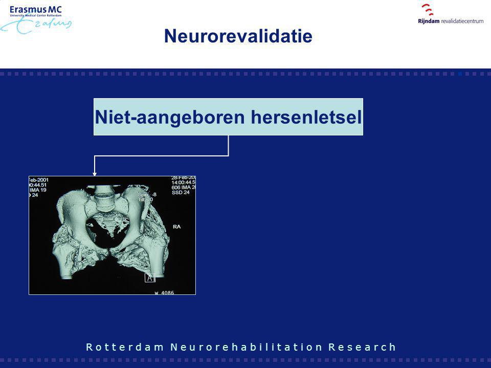 Niet-aangeboren hersenletsel R o t t e r d a m N e u r o r e h a b i l i t a t i o n R e s e a r c h Neurorevalidatie