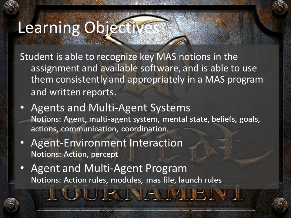 Learning Objectives Teamwork & Project Planning skills Student is able to work together with team members efficiently and result-driven, to solve complex problems.