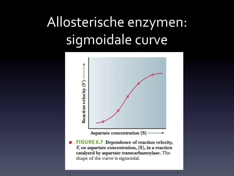 Allosterische enzymen: sigmoidale curve