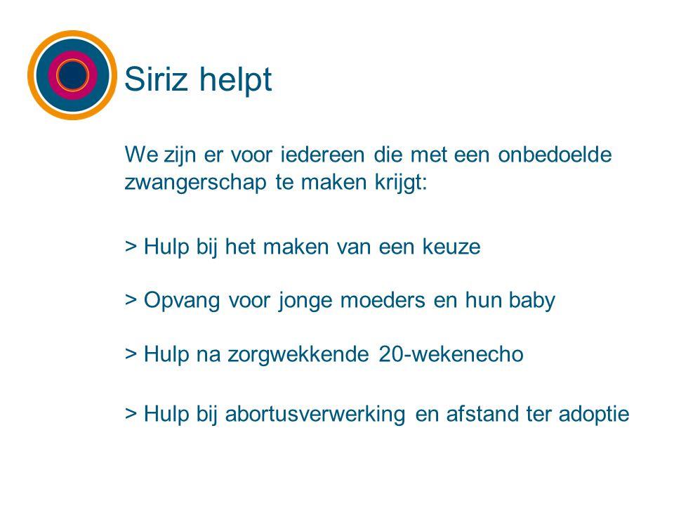 We zijn er voor iedereen die met een onbedoelde zwangerschap te maken krijgt: > Hulp bij het maken van een keuze > Opvang voor jonge moeders en hun ba