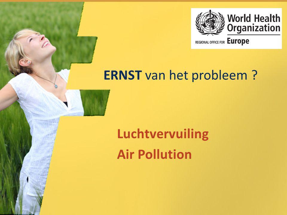 ERNST van het probleem ? Luchtvervuiling Air Pollution