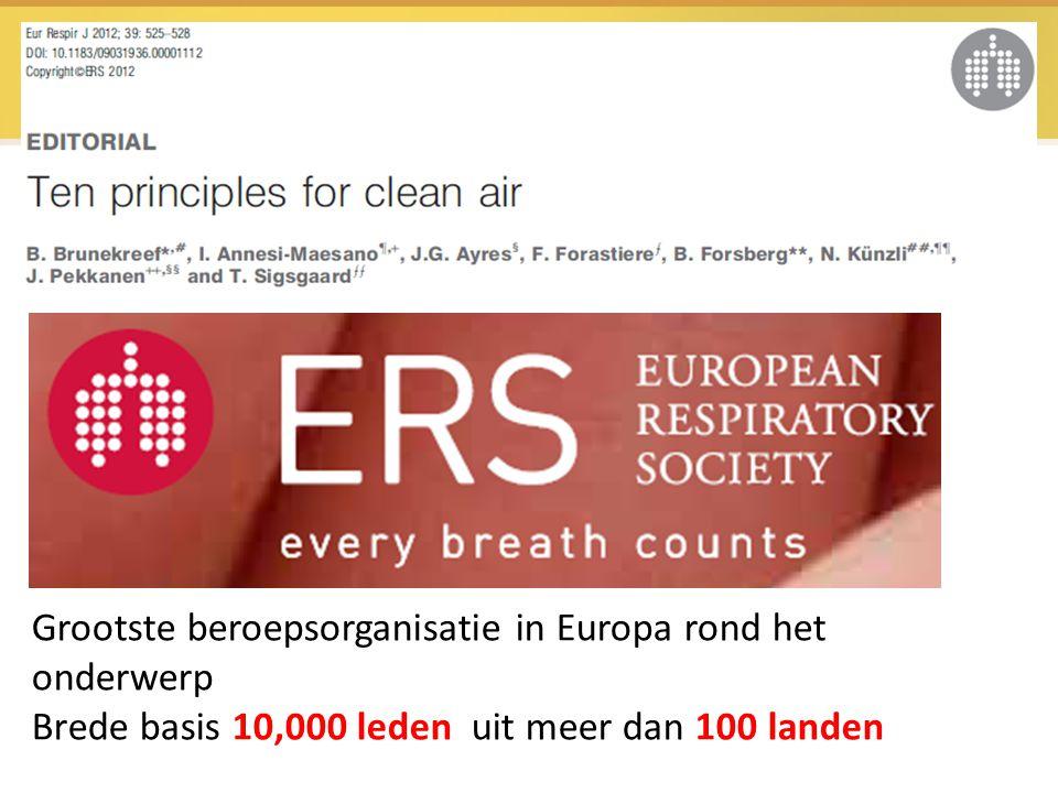 Grootste beroepsorganisatie in Europa rond het onderwerp Brede basis 10,000 leden uit meer dan 100 landen