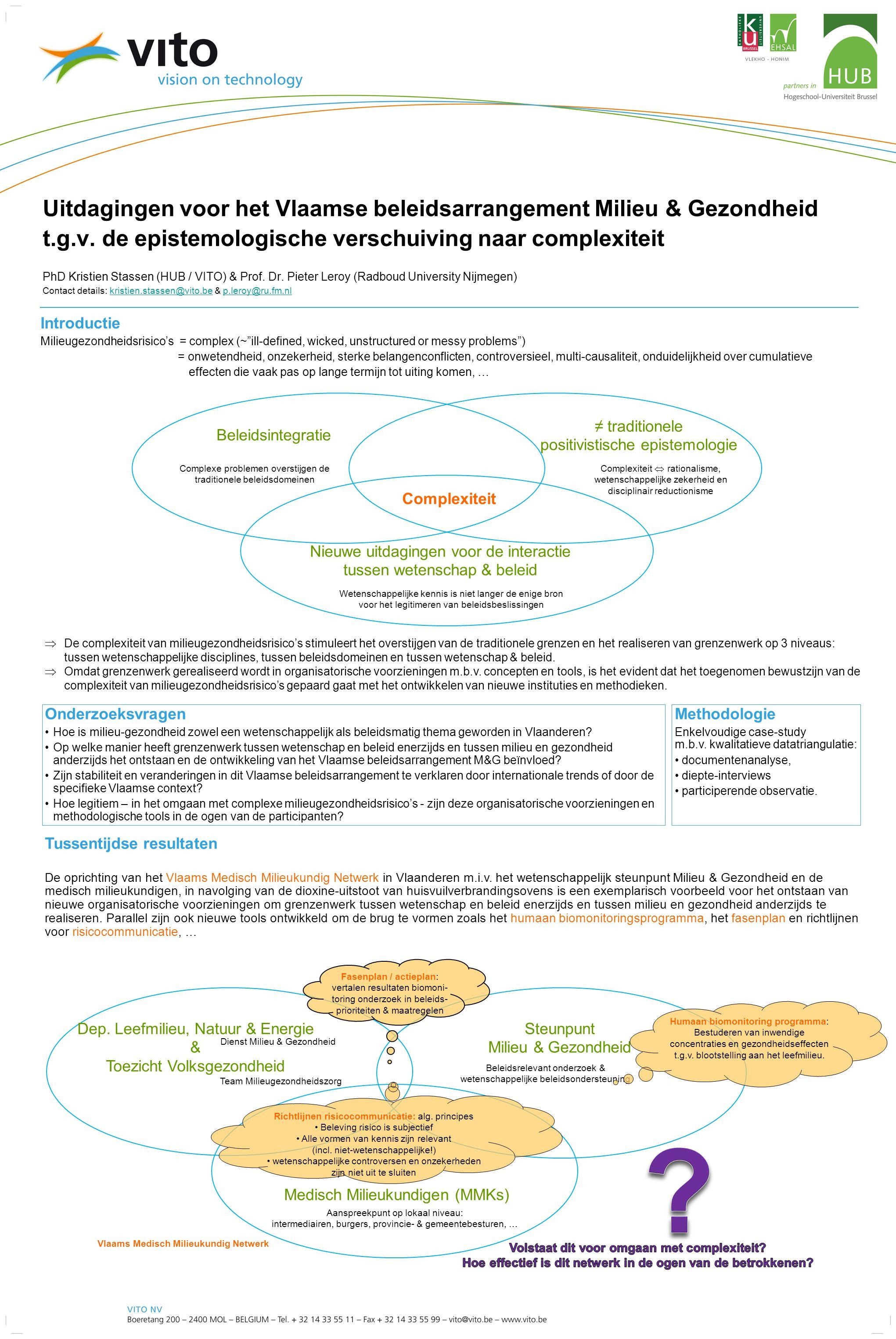 Uitdagingen voor het Vlaamse beleidsarrangement Milieu & Gezondheid t.g.v.