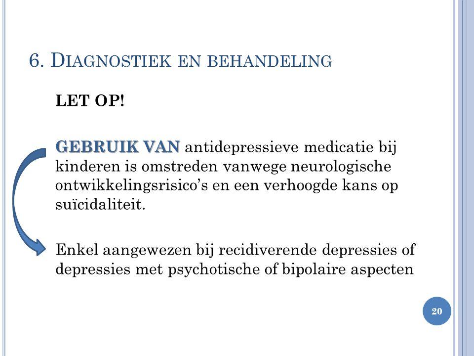 LET OP! GEBRUIK VAN GEBRUIK VAN antidepressieve medicatie bij kinderen is omstreden vanwege neurologische ontwikkelingsrisico's en een verhoogde kans