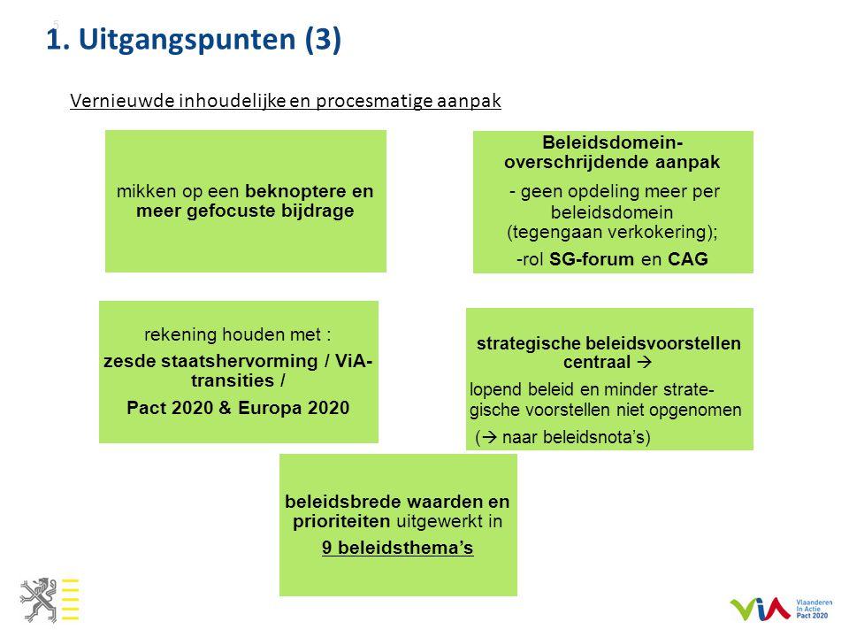 Vernieuwde inhoudelijke en procesmatige aanpak 1.