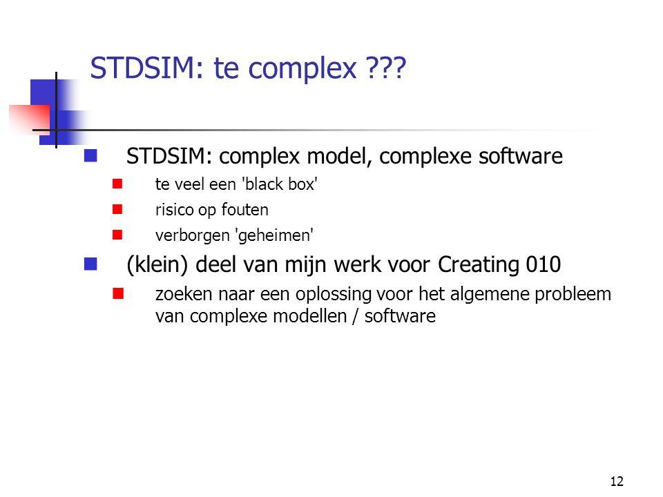 12 STDSIM: te complex ??.