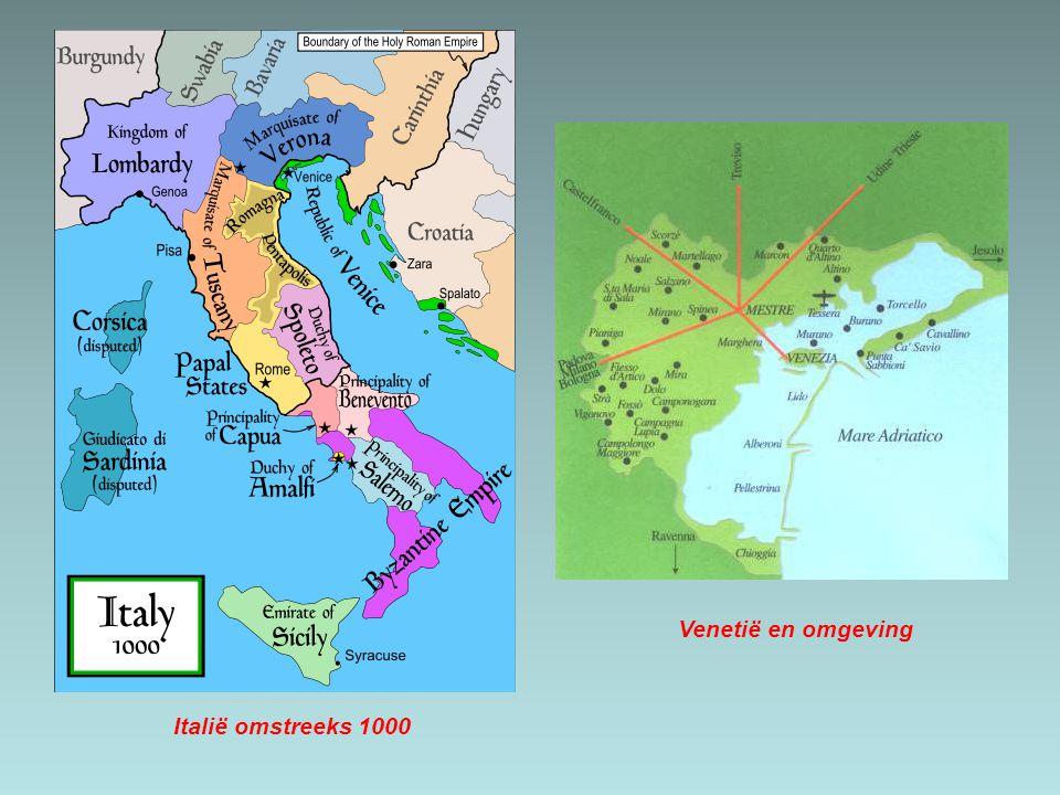 Italië omstreeks 1000 Venetië en omgeving