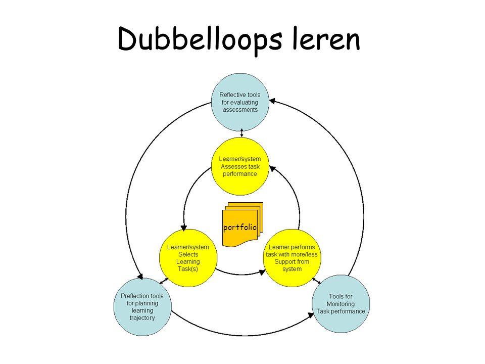 Dubbelloops leren portfolio