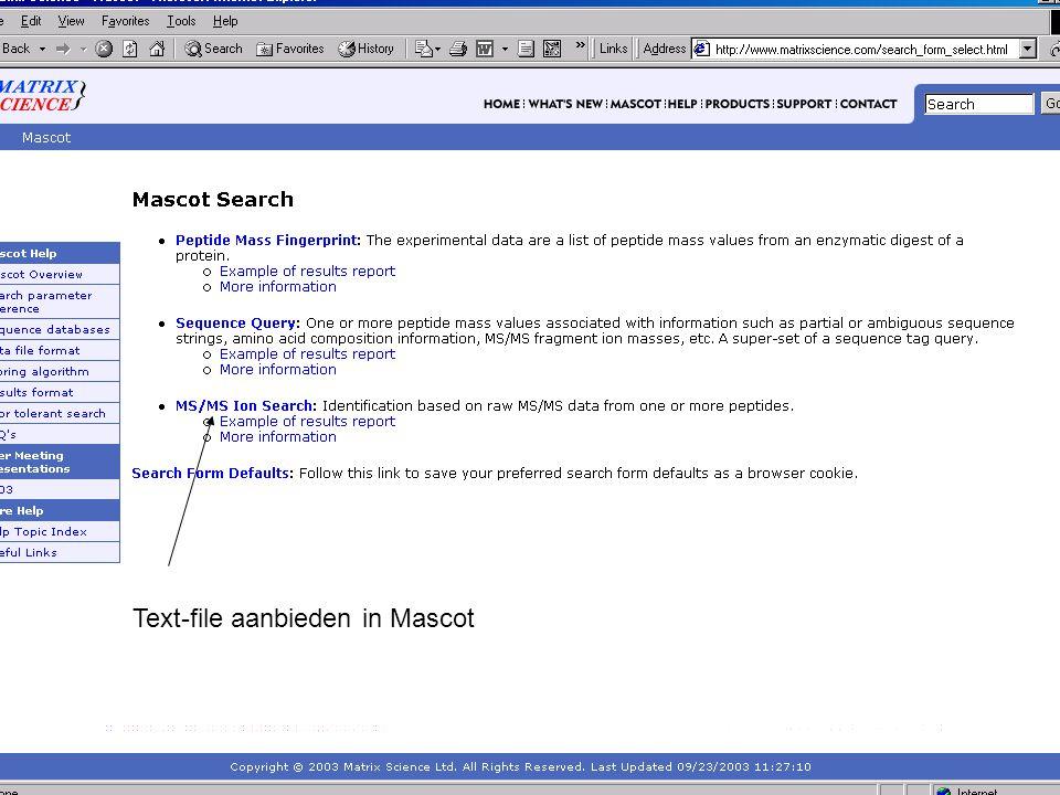 Text-file aanbieden in Mascot