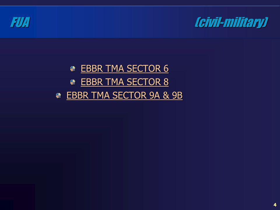 4 FUA (civil-military) EBBR TMA SECTOR 6 EBBR TMA SECTOR 8 EBBR TMA SECTOR 9A & 9B
