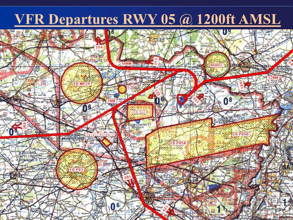 7 VFR Departures RWY 05 @ 1200ft AMSL