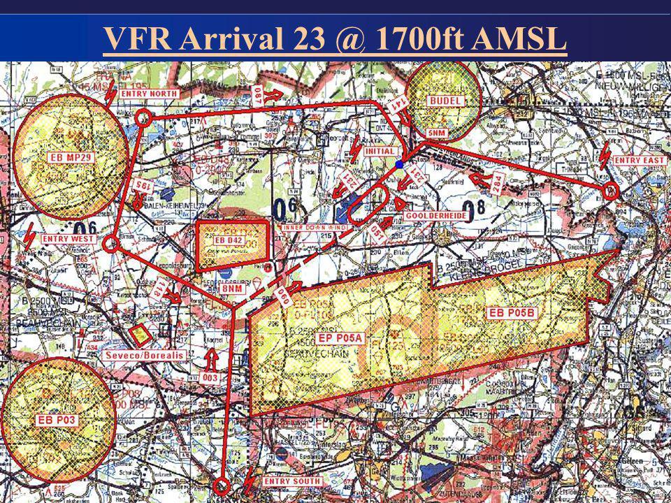 8 VFR Arrival 23 @ 1700ft AMSL