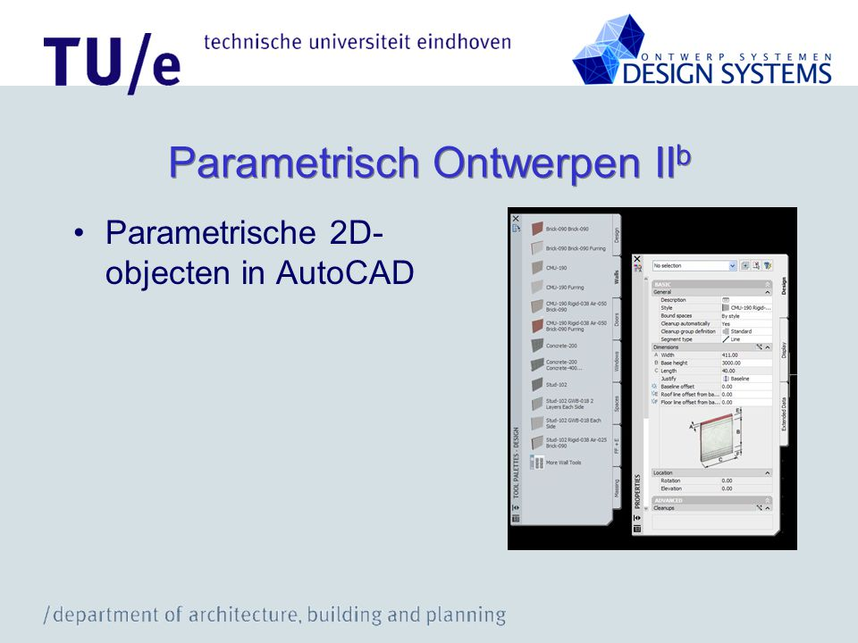 Parametrisch Ontwerpen II b Parametrische 2D- objecten in AutoCAD
