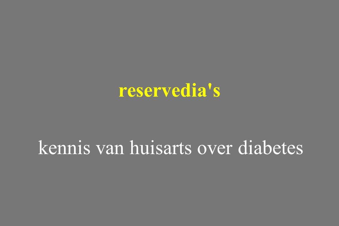 kennis van huisarts over diabetes reservedia's