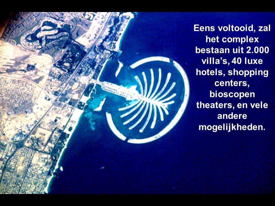 Dit is de grootste kunstmatige eilandengroep die kan gezien worden van,uit de ruimte. In totaal zullen 3 van deze palmeilanden worden gerealiseerd.