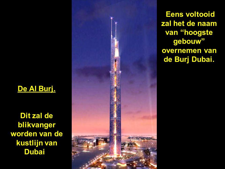 Zo zal de stad Dubai eruit zien eind 2008-2009. Meer dan 140 verdiepingen van de Burj Dubai zijn reeds voltooid