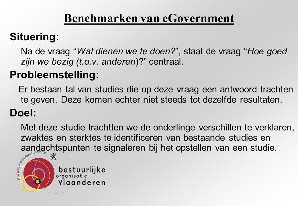 Benchmarken van eGovernment Janssen,D., Rotthier,S.