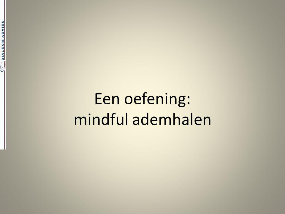 Een oefening: mindful ademhalen