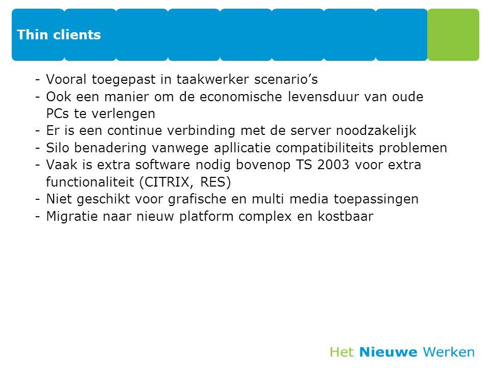 Virtual Desktop Infrastructuur, VDI Microsoft® Application Virtualization (formerly SoftGrid) broker