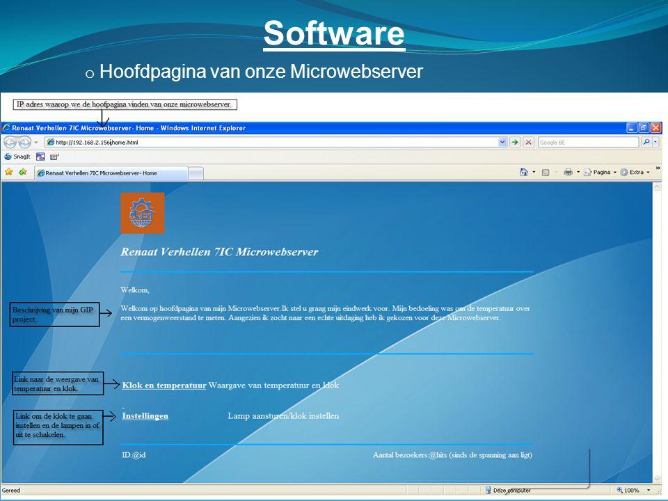 Software o Hoofdpagina van onze Microwebserver